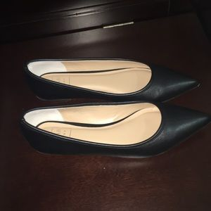 Kaari Blue Shoes - Kaari blue Black Smooth Hillary flats